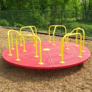 10 foot merry go round red and yellow