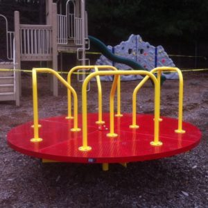 8 foot merry go round red and yellow