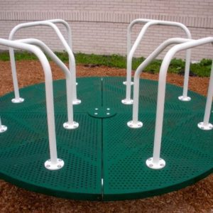 8 foot merry go round green and tan
