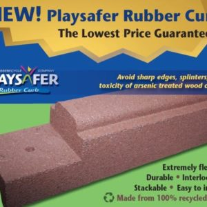 Rubber Curb - 6 Foot with Spikes