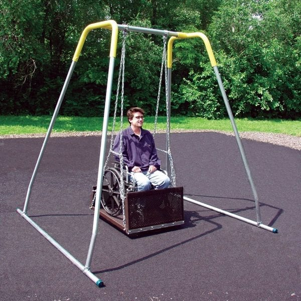 Wheelchair Accessible Swing Platform with Frame