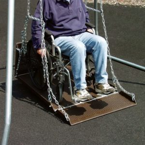 Wheelchair Accessible Swing Frame - Close up of Wheelchair Swing