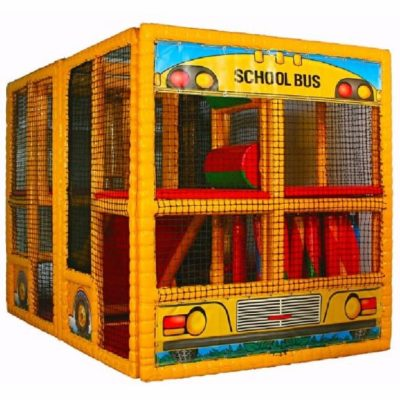 Tot Town Contained Play School Bus