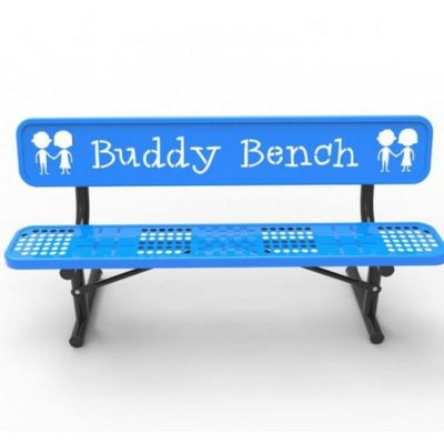 Phoenix Cantilever Bench with Powder Coated Steel Slats