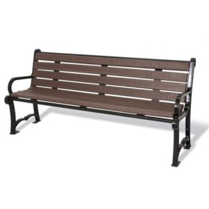 Charleston Recycled Bench with Back