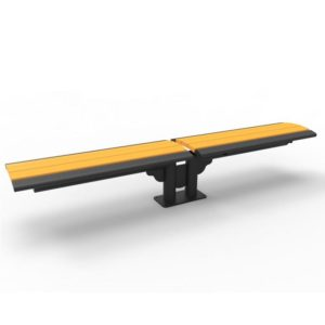 Phoenix Cantilever Bench with Recycled Plastic Slats