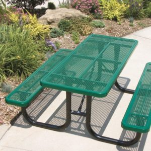 Extra Heavy-Duty Thermoplastic Rectangular Picnic Table