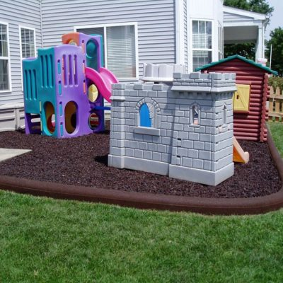 8 Foot IMC Outdoor Rubberific Recycled Rubber Timber in Residential Playground