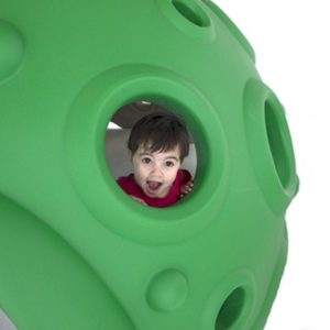 Moon Crater Climber - Child Looking Out From Hole