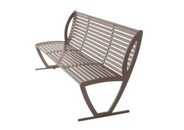 6 Foot Augusta Series Bench - Steel Slats - No Arms - 93N-HS6