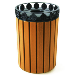 Charleston Recycled Trash Receptacle w/ Plastic Liner - CH-CDR32FT