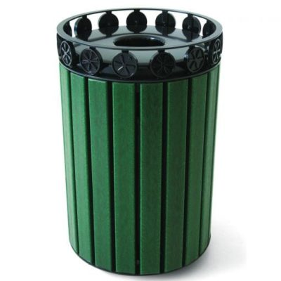 Charleston Recycled Trash Receptacle w/ Plastic Liner