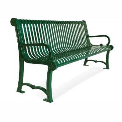 964-S6 - Charleston Series Bench with Back