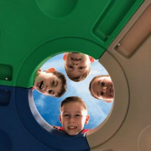 Moon Crater Climber - Kids Looking in From Top