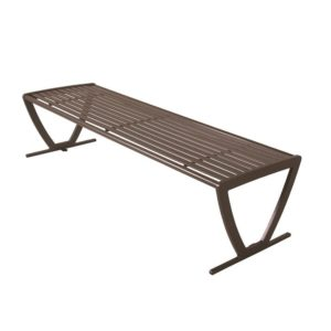 6 Foot Augusta Series Bench - Steel Slats - Without Back