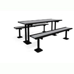 6' Richmond Series Recycled Multi-Pedestal Table