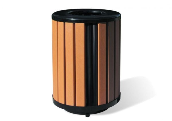 Richmond Recycled Trash Receptacle w/ Plastic Liner