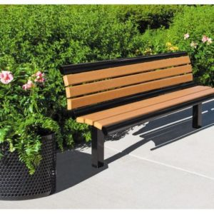 Richmond Recycled Bench with Back - 61S-CDR6
