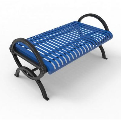 Durham Series Bench without Back - Steel Slats